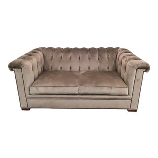 Hickory Chair Gray Love Seat For Sale