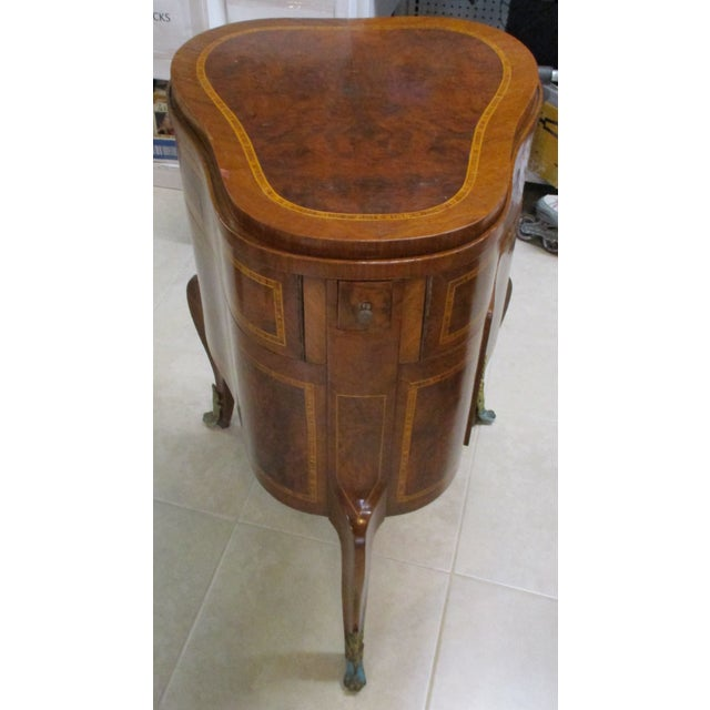 Egyptian Inlaid Wood Three Leg Flip-Up Mirror Top Vanity Dressing Table For Sale - Image 13 of 13