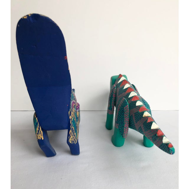 Late 20th Century Mexican Folk Art Lizard and Skunk - Set of 2 For Sale - Image 4 of 8