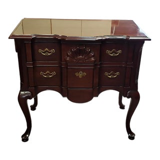 Traditional Mahogany Two Drawer Buffet Chest by Thomasville For Sale