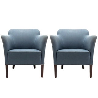 1940 Fritz Hansen Club Chairs 'Model 1146' - a Pair For Sale