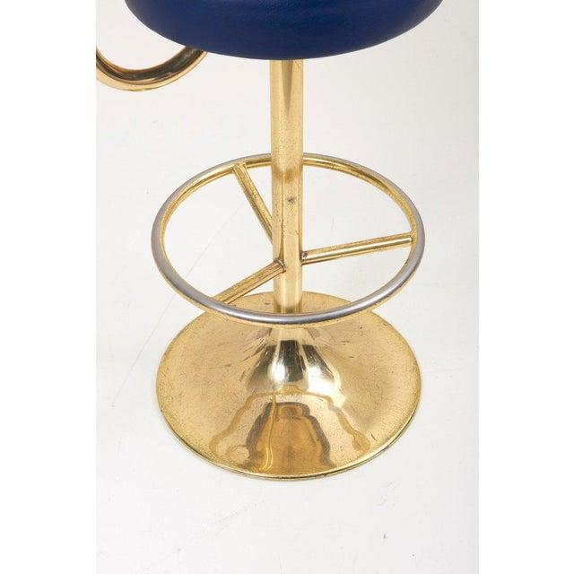 1970s 1 of 19 Brass Börje Johansson Bar Stools by Johansson Design For Sale - Image 5 of 9