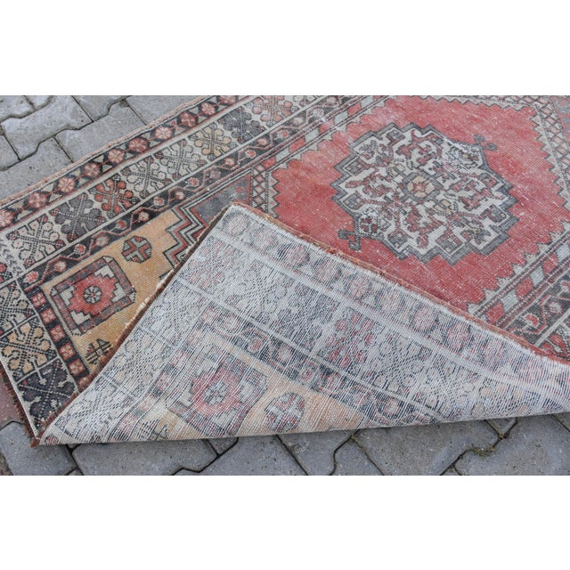 Distressed Turkish Oushak Rug - 3′11″ × 6′1″ - Image 5 of 9
