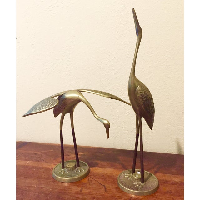Brass Cranes - A Pair - Image 2 of 11