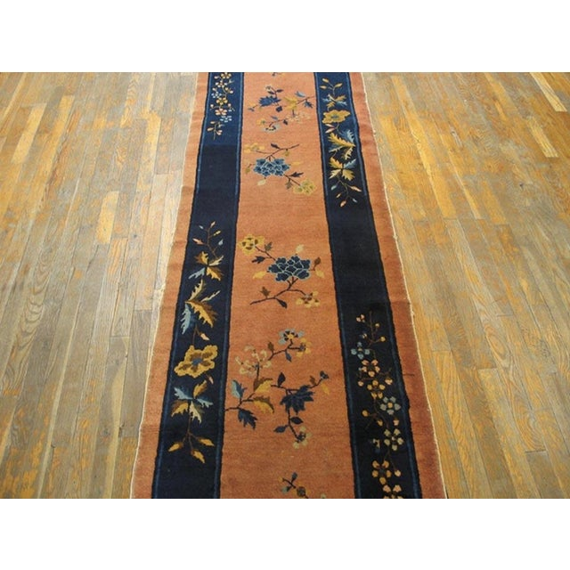 """Antique Chinese Art Deco Rug 2'6"""" X11'9"""" For Sale - Image 4 of 5"""