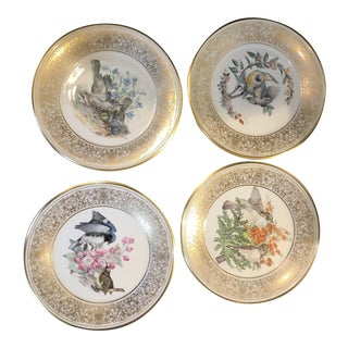 1970s Lenox Birds of America Annual Plates - Set of 4 For Sale