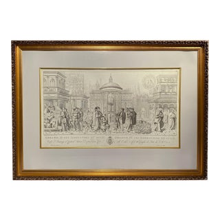 Vintage Engraving Lithograph of Benozzo Gozzo For Sale