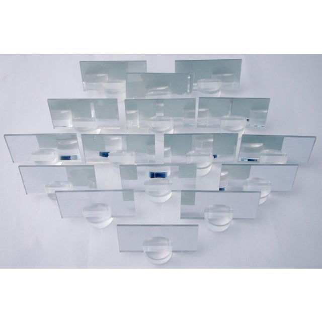 1960s Lucite Dinner Place Cards with Stands - Set of 16 - Image 5 of 10