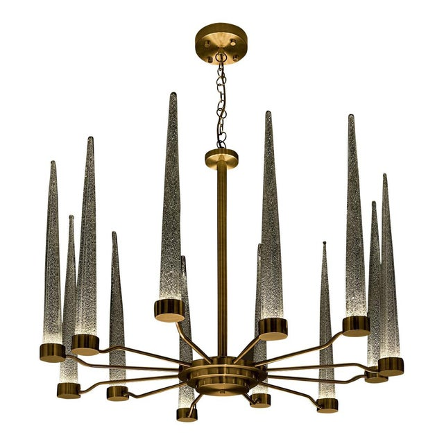 English Brass Icicle Ceiling Light For Sale In Greensboro - Image 6 of 6