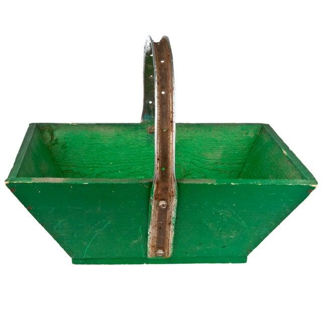Vintage French Green Gardening Trug - Image 1 of 6