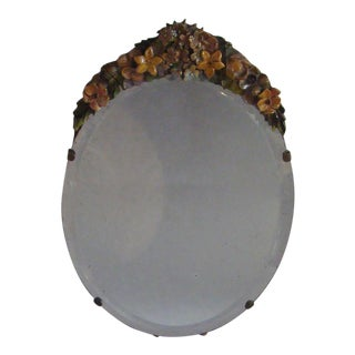 Antique Edwardian Barbola Table Mirror For Sale