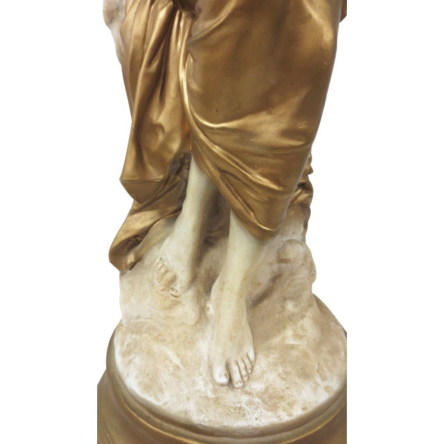 Gilt Classical Statue On Pedestal - Image 5 of 9