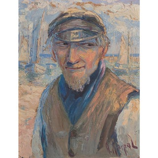 Original Vintage Portrait, Antoni Kierpal, Portrait of a Fisherman For Sale