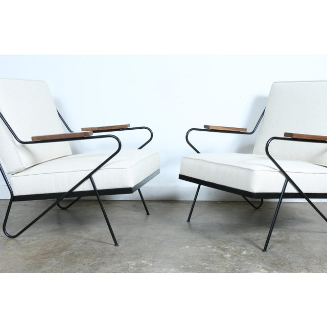 Wrought Iron Modern Chairs - A Pair - Image 3 of 9