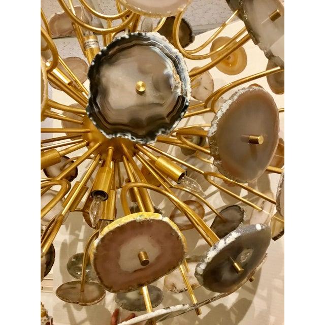 John Richards' Modern Agate Sliced Orb Chandelier For Sale - Image 4 of 8