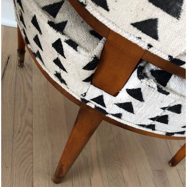 Vintage Black & White Upholstered Arm Chairs - A Pair For Sale - Image 12 of 13