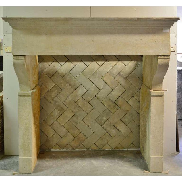 19th Century French Limestone Fireplace For Sale - Image 4 of 4
