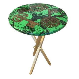 "1950s Italian ""Chiavi"" Fornasetti Side Table For Sale"