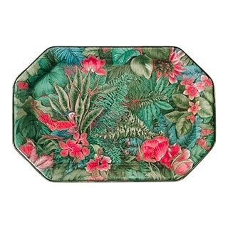Gilde Handwerk Tropical Themed Tray For Sale