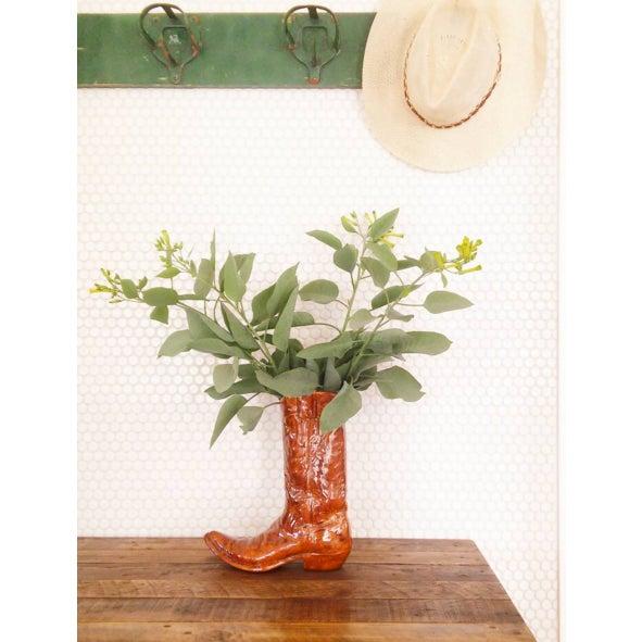 Vintage Ceramic Cowboy Boot Vase - Image 8 of 8