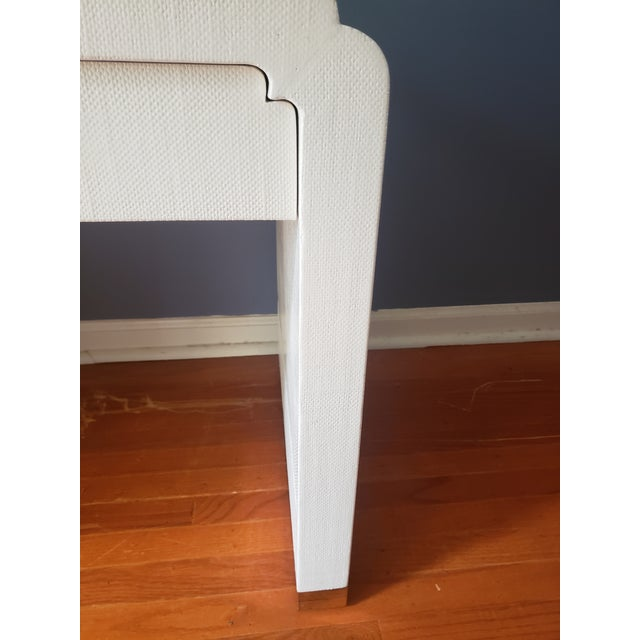 Contemporary Linen Wrapped Nightstands by Ron Seff-a Pair For Sale - Image 3 of 12
