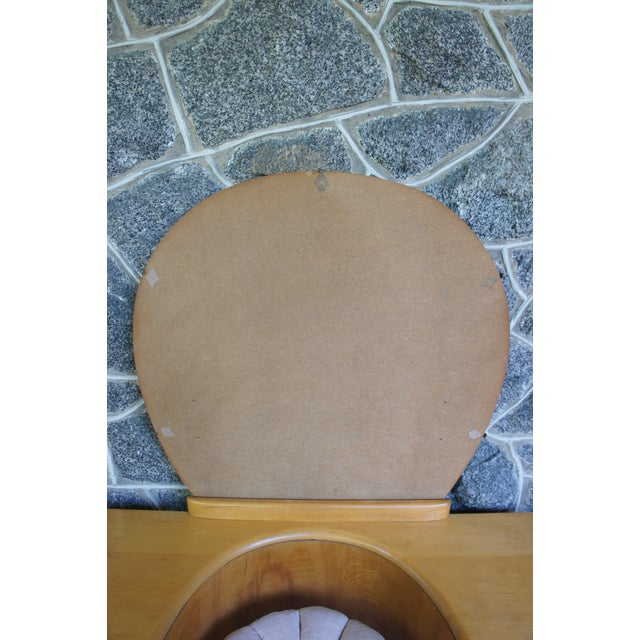 Heywood Wakefield Rio Champagne Maple Vanity & Stool For Sale - Image 11 of 11