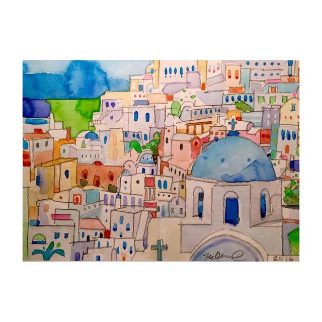 Original Watercolor of Mykonos - Image 1 of 2
