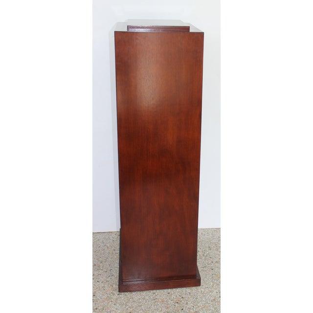 Wood Vintage Mahogany Pedestal For Sale - Image 7 of 13