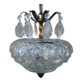 Vintage French Cut Glass Prism Chandelier