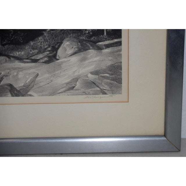 """Impressionism Stow Wengenroth """"Inlet Light"""" Limited Edition Pencil Signed Lithograph C.1937 For Sale - Image 3 of 8"""