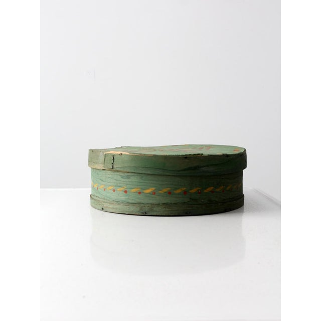 Antique Painted Band Box - Image 4 of 8