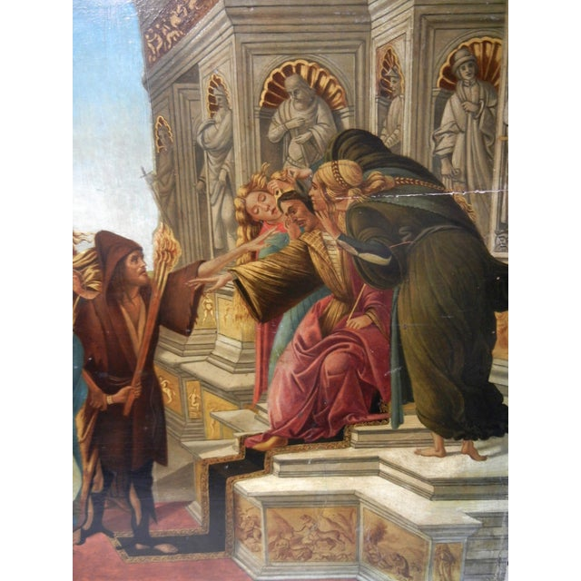 18th Century 18th Century Antique Italian Renaissance Calumny of Apelles After Sandro Botticelli Print For Sale - Image 5 of 13
