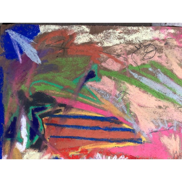 Abstract No. 100, an Original Pastel by Erik Sulander 12x12 on Paper [a photo-print ($89) is available on separate...