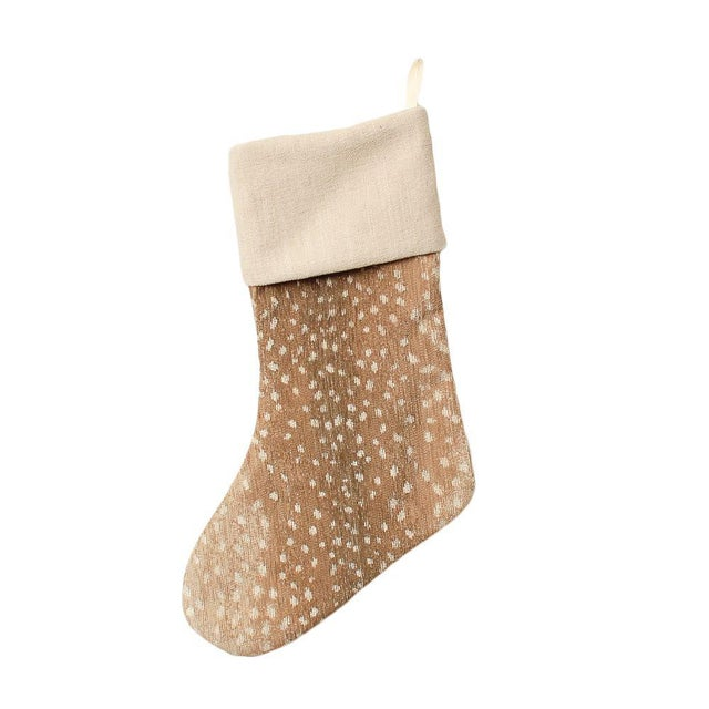 2010s Tan Chenille Antelope Stocking For Sale - Image 5 of 5
