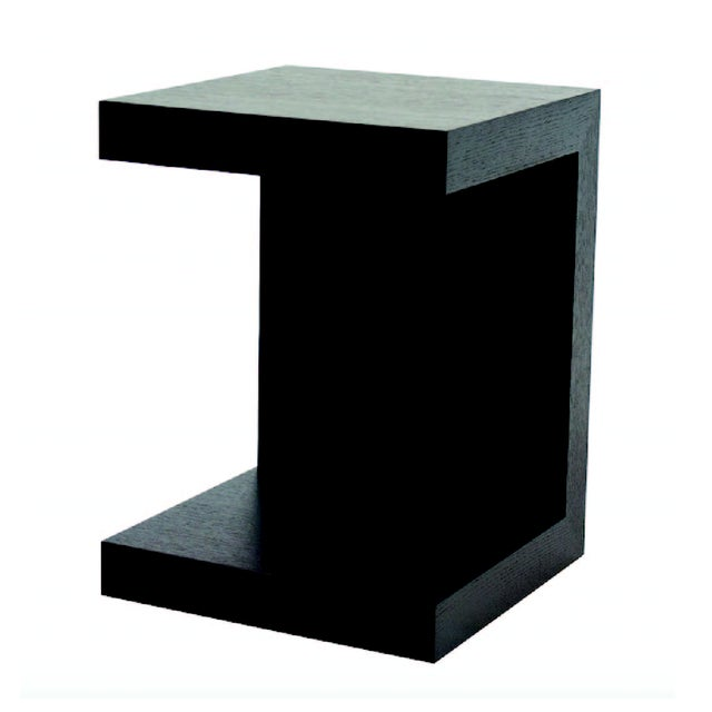 Dark Oak Modern Slide-In Side Table - Image 1 of 2