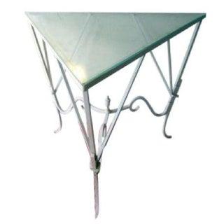 Iron Glass Salterini Corner Patio Table