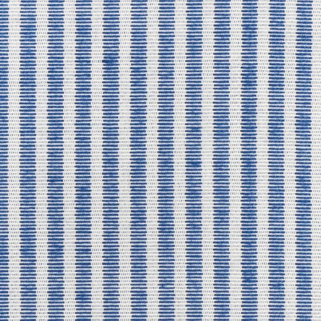Contemporary Schumacher Easton Stripe Indoor/Outdoor Fabric in Navy For Sale - Image 3 of 3