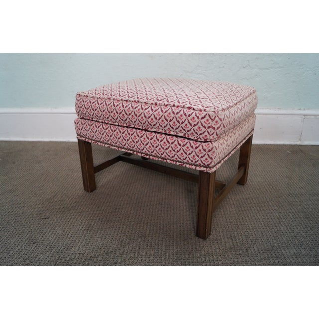 Baker Furniture Co Chippendale Style Ottoman - Image 3 of 10
