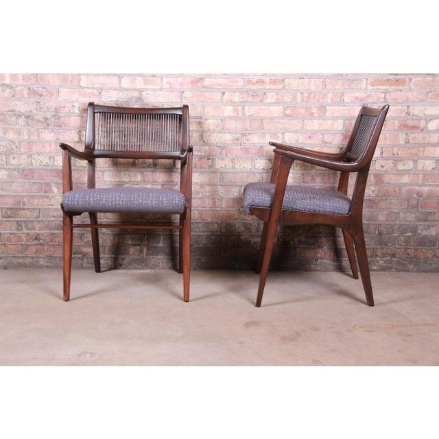 John Van Koert Mid-Century Modern Restored Walnut Dining Chairs, Set of Ten For Sale - Image 11 of 13