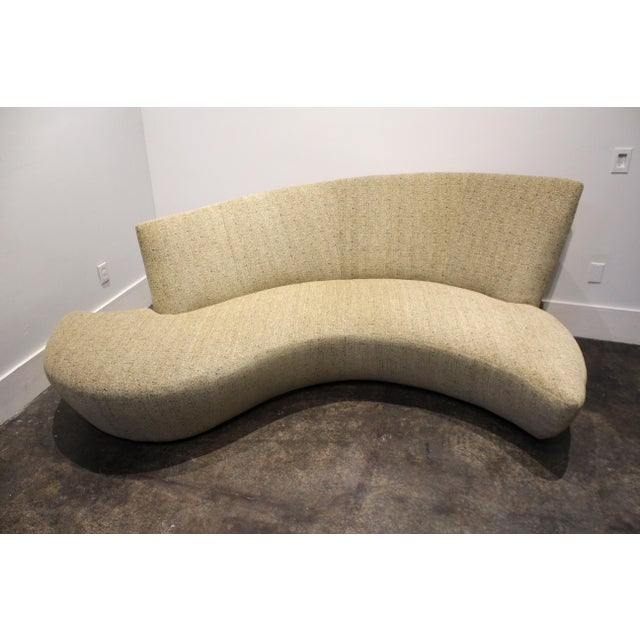 Sought after statement piece by Vladimir Kagan for Preview Furniture. The curved, serpentine sofa was inspired by Frank...
