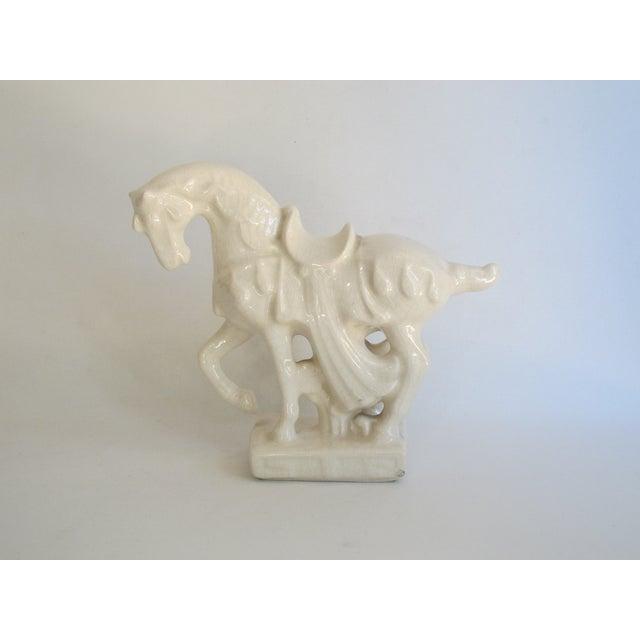 White Chinese Porcelain Horse - Image 2 of 8
