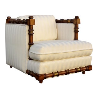Faux-Bamboo Lounge Chair For Sale