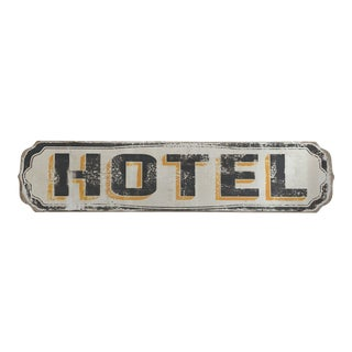 Rustic Wood Hotel Sign Wall Decor For Sale