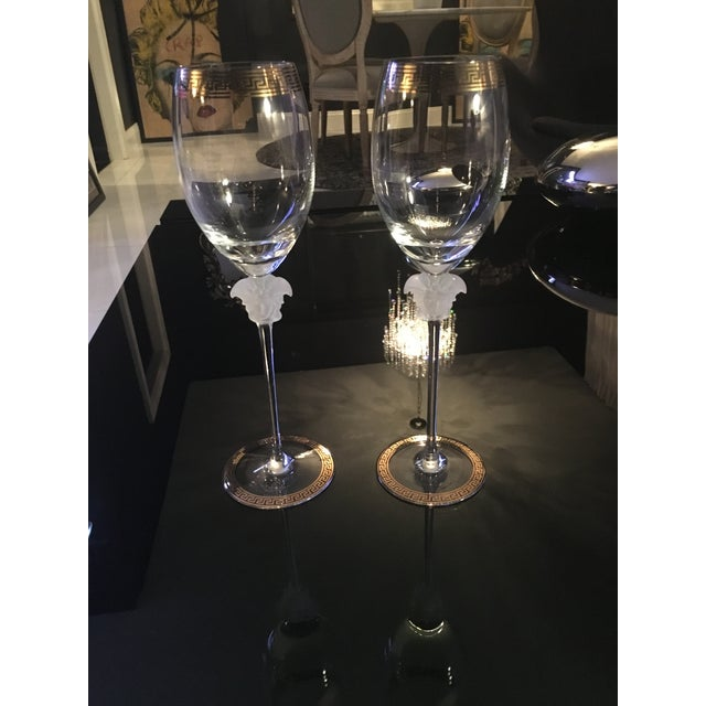 Gianni Versace Rosenthal 1993 Medusa d'Or Wine Glasses - A Pair - Image 2 of 4