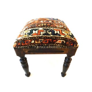 Antique Tribal Qashqa'i Fragment Stool For Sale
