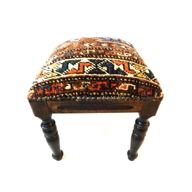 Antique Tribal Qashqa'i Fragment Stool For Sale