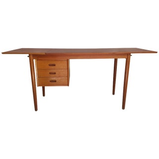 Mid-Century Modern Drop-Leaf Desk by Arne Vodder Denmark For Sale