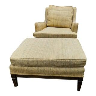 Mid Century John Stuart Lounge Chair & Ottoman For Sale