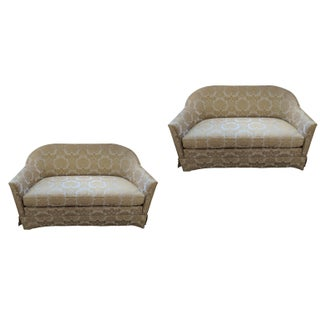 1950s Love Seat Pair - by W & J Sloane For Sale