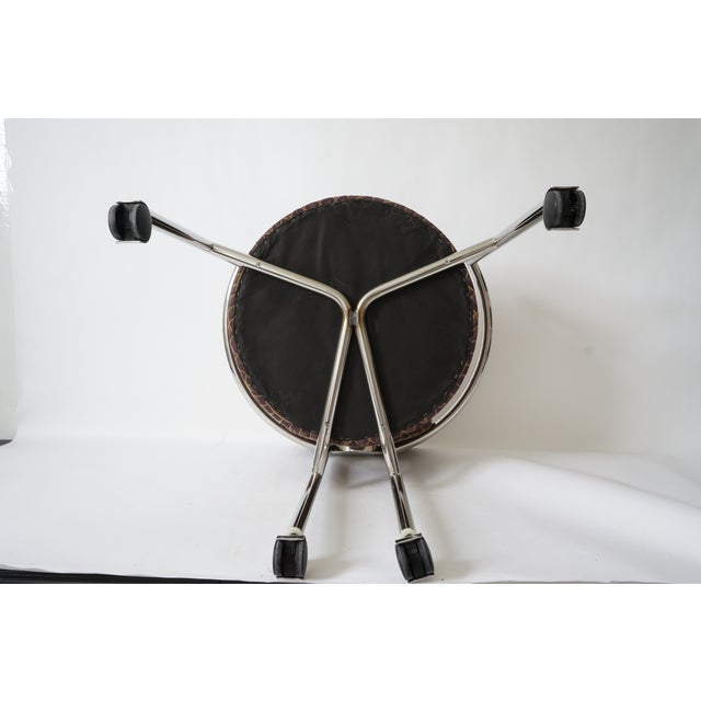 """Metal Vintage Stanley Jay Friedman for Brueton """"Moon Chair"""" - 4 Are Available For Sale - Image 7 of 9"""